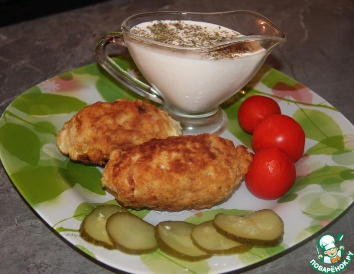 Рецепт: Зразы с фетой и вялеными томатами