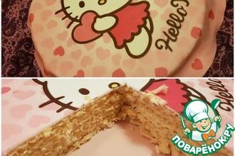 Рецепт: Вафельный торт со сгущенкой