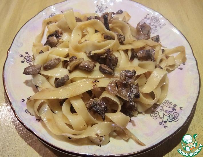 Рецепт: Паста с грибами 15 минут