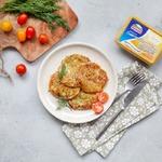 Кабачково-сырные оладьи
