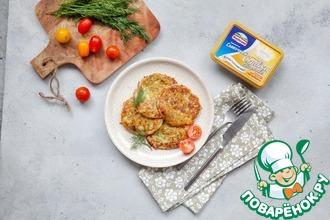 Рецепт: Кабачково-сырные оладушки