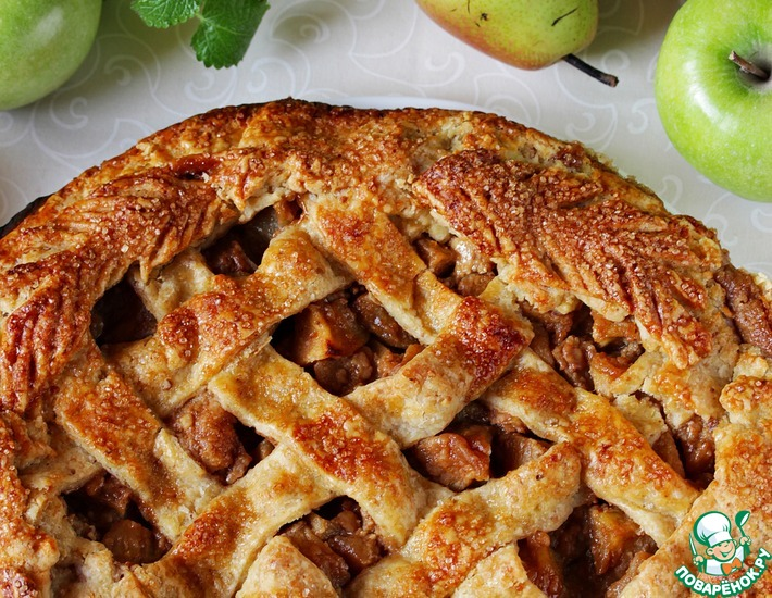 Рецепт: Яблочно-грушевая галета