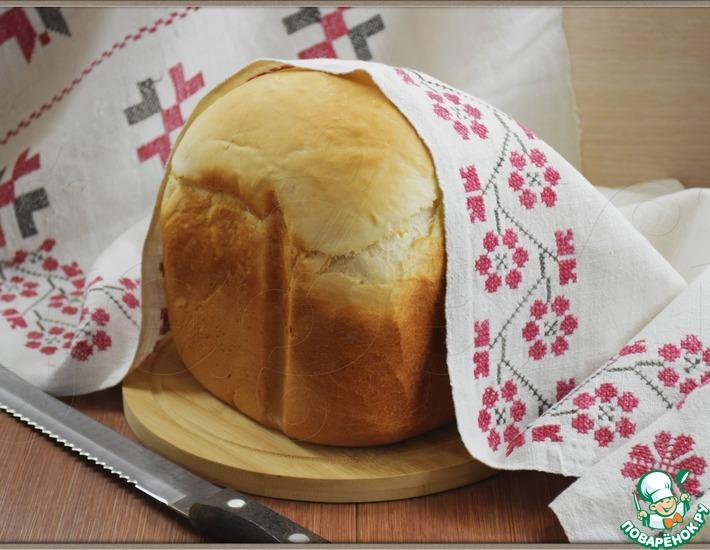 Рецепт: Пшеничный хлеб на скорую руку