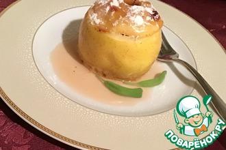Рецепт: Запеченные яблоки с клюквой