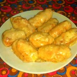 Куриные крученики с сыром и яйцом