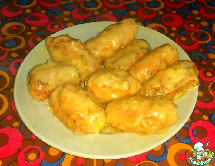 Рецепт: Куриные крученики с сыром и яйцом