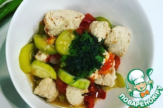 Рецепт: Тушеная индейка с овощами