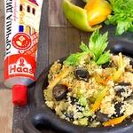 Кус-кус с овощами и грибами