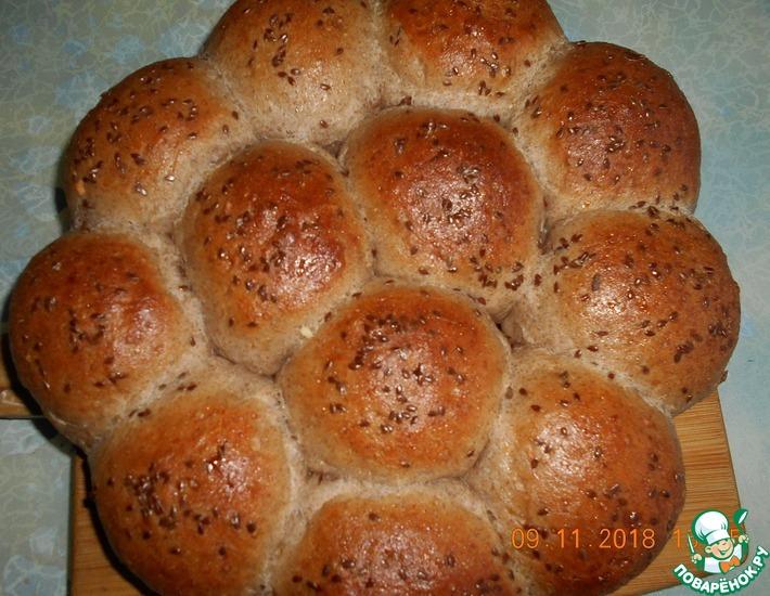 Рецепт: Булочки пшенично-льняные