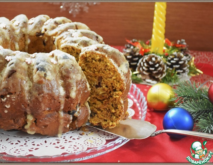 Рецепт: Рождественский кекс Трио