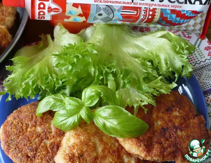 Рецепт: Горчичные куриные котлеты