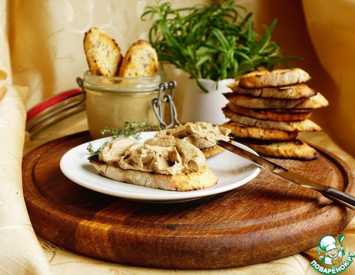Рецепт: Печеночный паштет от Евгения Клопотенко