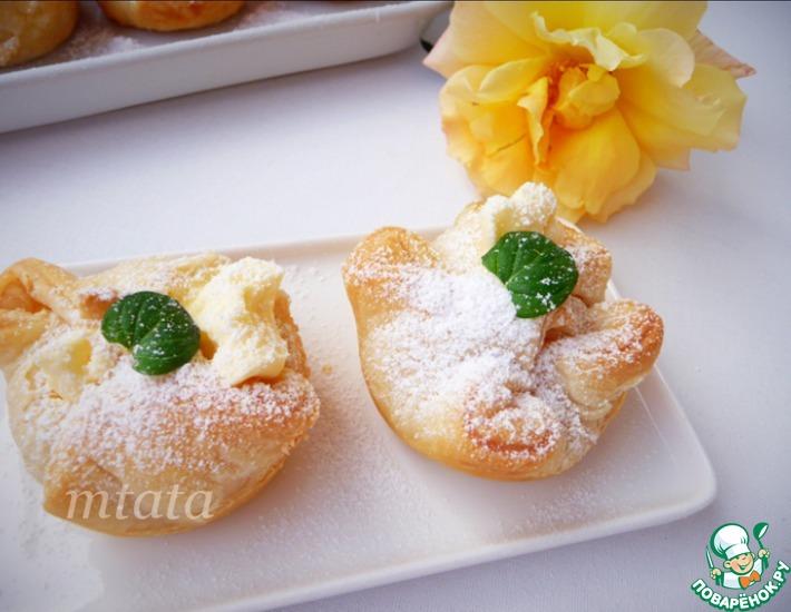 Яблоки и груши в слоеном тесте - пошаговый рецепт с фото на Повар.ру | 550x710
