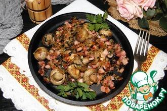 Рецепт: Горячая закуска из шампиньонов