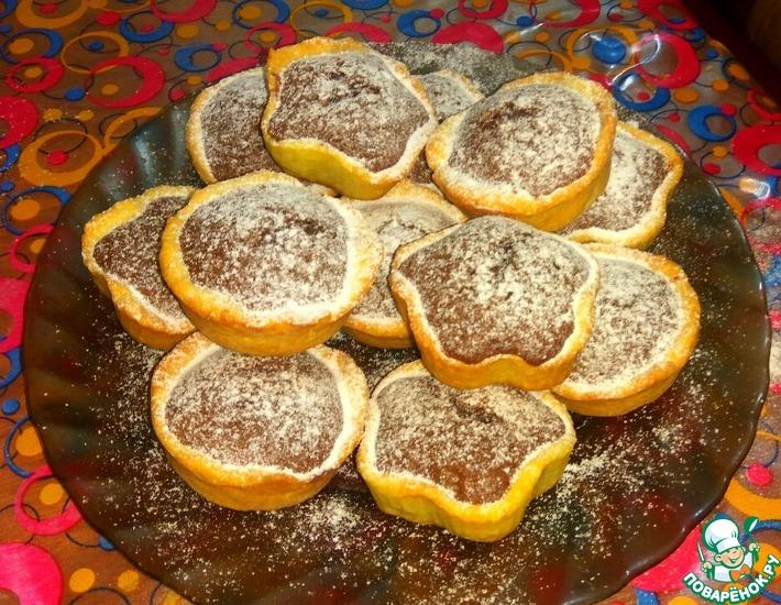 Пирожное с двумя видами теста