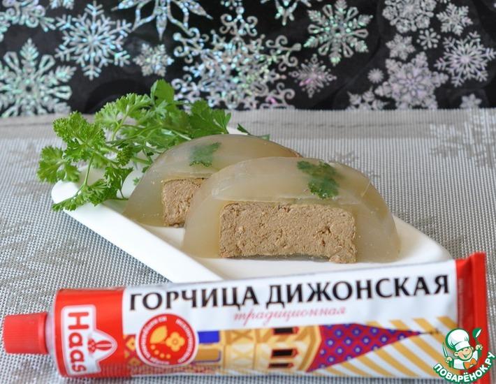 Рецепт: Заливное с печёночным паштетом