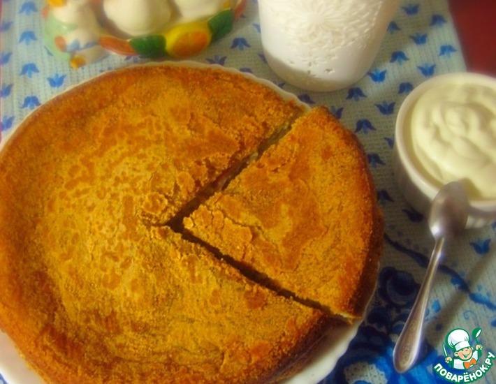 Рецепт: Пирог с пекинской капустой и ветчиной
