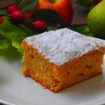 Морковно-грушевый пирог