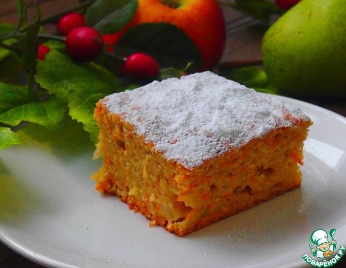 Рецепт: Морковно-грушевый пирог