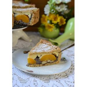 Творожно-маковый пирог с абрикосами