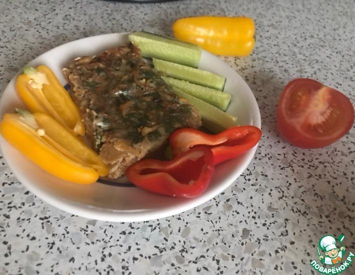 Рецепт: Заливной пирог с капустой