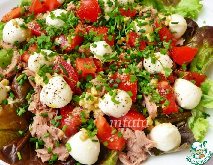 Диетический салат с тунцом » Вкусно и просто. Кулинарные рецепты с ... | 550x710