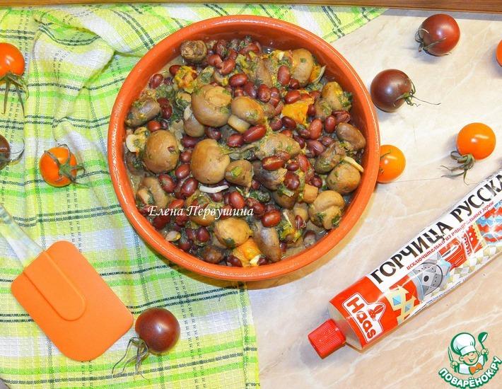 Рецепт: Сердечки горчичные с черри и грибами