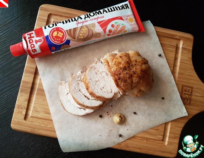 Рецепт: Запеченная куриная грудка с горчицей