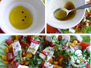 Салат простой из кукурузы и феты Салат