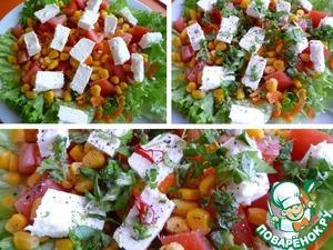 Салат простой из кукурузы и феты ингредиенты