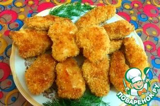 Рецепт: Куриное филе в хрустящей панировке
