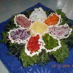 Салат Цветик-семицветик в двух вариациях