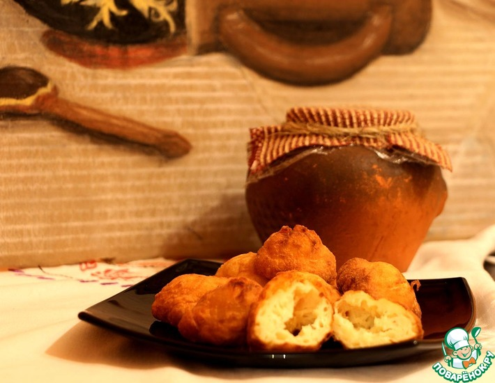 Рецепт: Пампушки из творога с картофелем