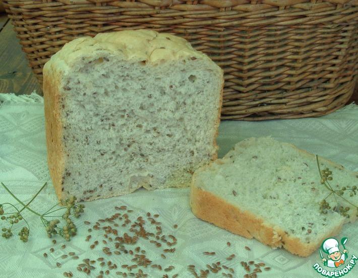 Рецепт: Ячменный хлеб с семенами льна