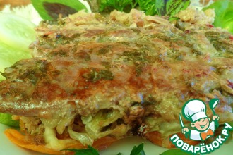 Рецепт: Мясо, запеченное со свежими овощами