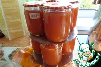 Рецепт: Сок из сибирского ранета на зиму