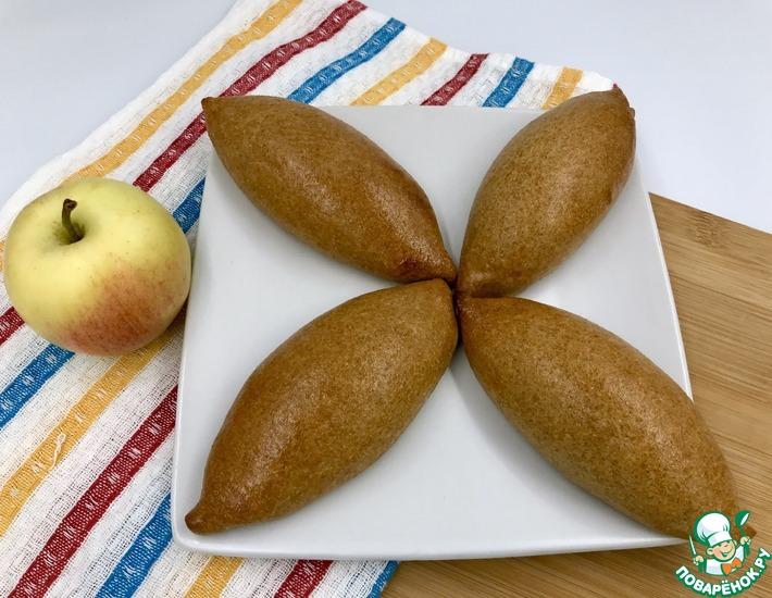 Рецепт: Творожные пирожки с яблоком