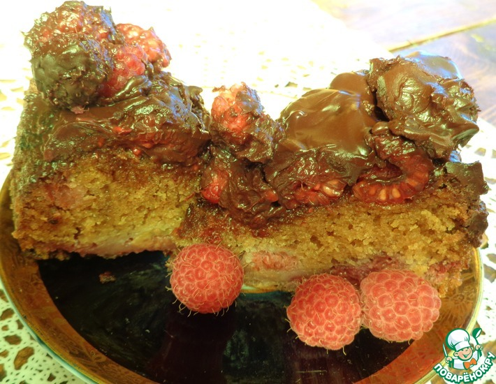 Рецепт: Торт Малина в шоколаде