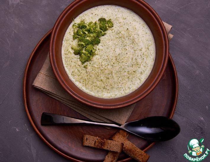 Рецепт: Крем-суп из брокколи и плавленого сыра
