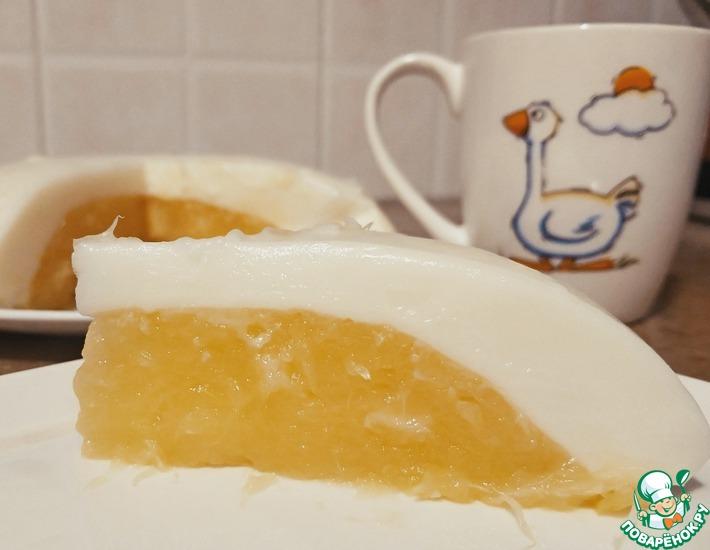 """Молочный десерт """"Яйцо страуса"""""""