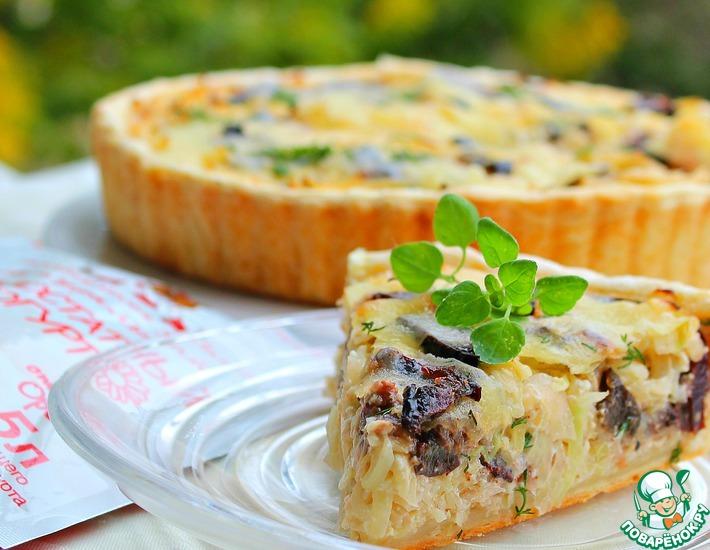 Рецепт: Открытый пирог с капустой Необычный