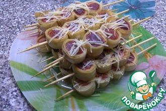 Рецепт: Сосиски в лаваше
