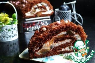 Рецепт: Шоколадный рулет Мария