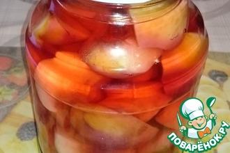 Рецепт: Компот из персиков с корицей