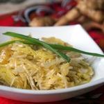 Салат с топинамбуром и картофелем