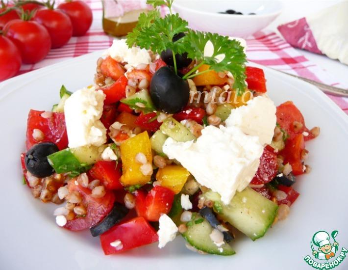 Рецепт: Овощной салат с гречкой