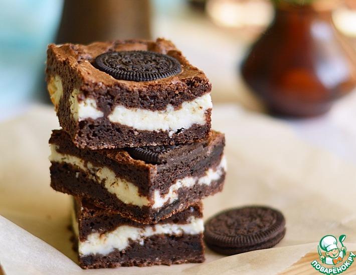 Рецепт: Шоколадный брауни с творогом