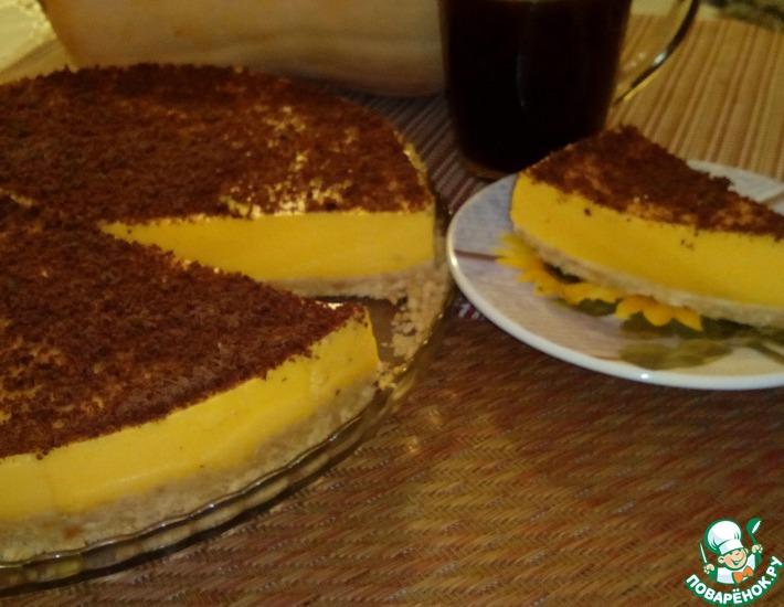 Рецепт: Тыквенный торт без выпечки