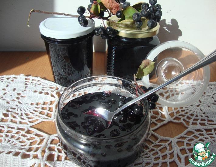 Рецепт: Варенье из черноплодной рябины Вишневое