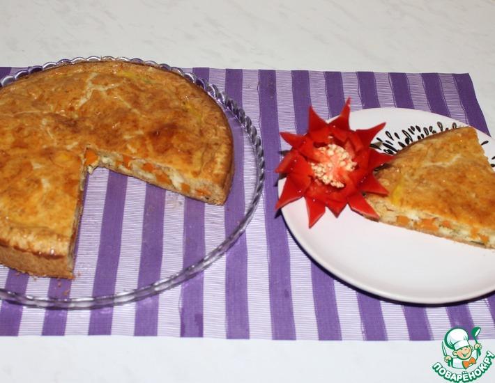 Рецепт: Пирог с тыквой и брынзой